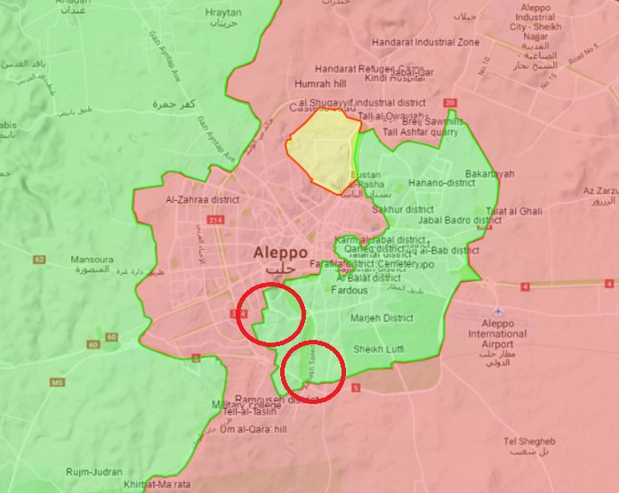 Heavy Clashes Resumed in ALeppo City as Syrian Army and al-Nusra (al-Qaeda) Deployed Reinforcements