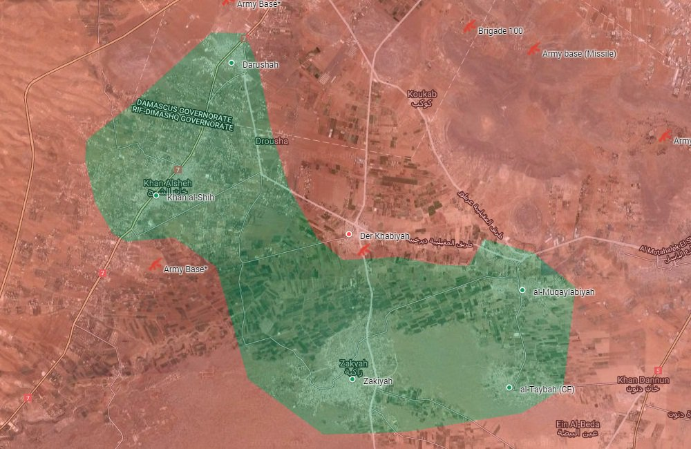 Government Forces Seize Strategic Farms in Western Ghouta