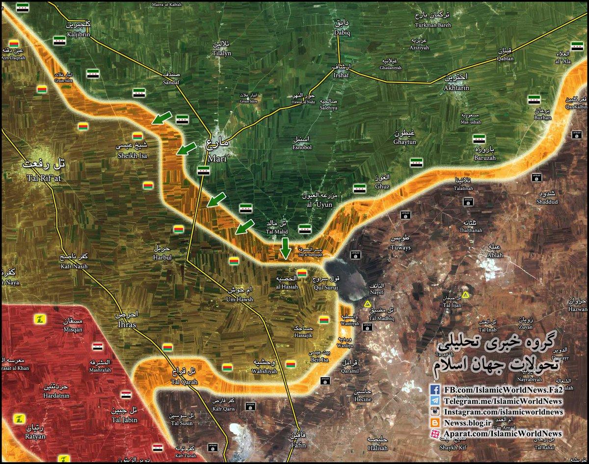 Turkish-Backed Militants Attempt to Break Kurdish YPG's Defenses North of Aleppo City