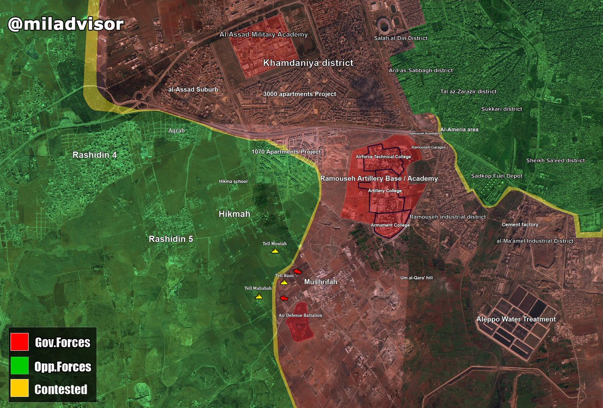 Overview of Military Situation in Aleppo City on October 25, 2016 (Map, Videos)