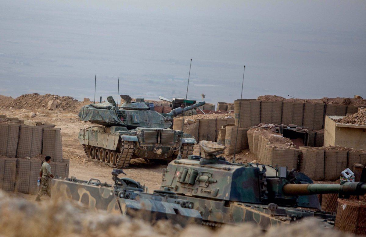 Turkish Troops, Battle Tanks and Artillery Operate in Northeastern Countryside of Mosul (Photos)