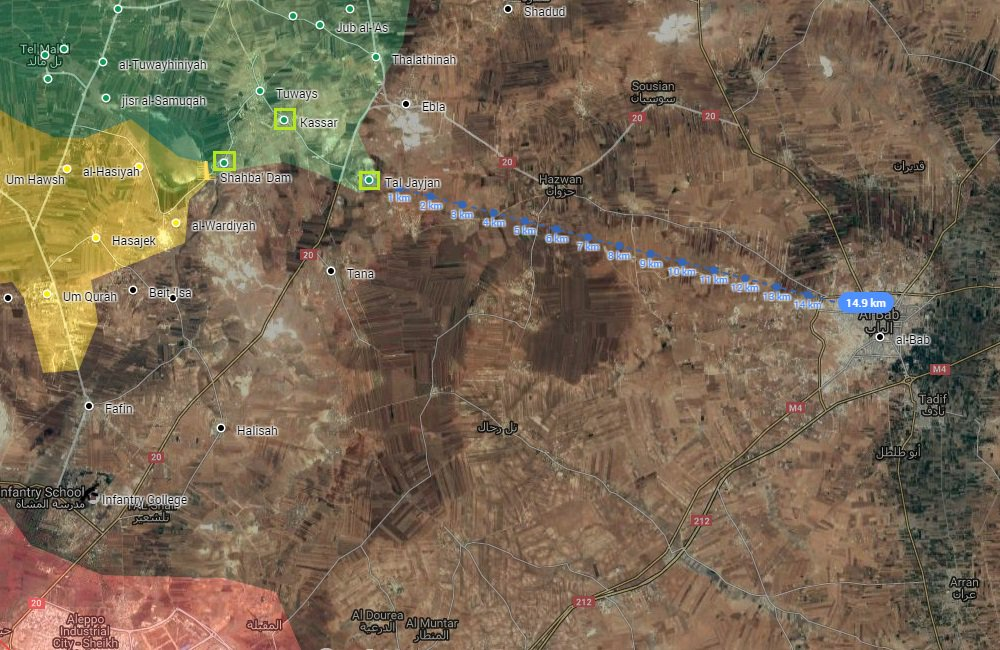 Turkish Military and Pro-Turkish Militants Deploy in 15 km from Strategic Syrian Town of Al-Bab