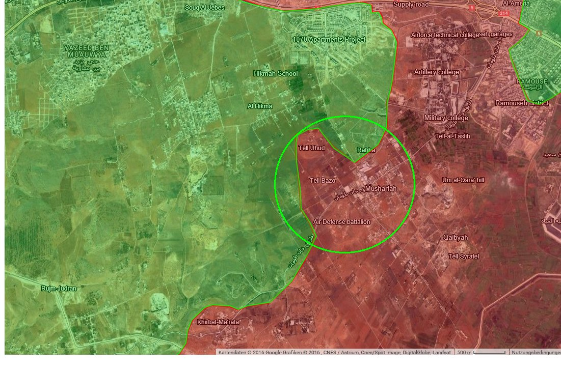 Overview of Military Situation in Aleppo City on October 25-26, 2016
