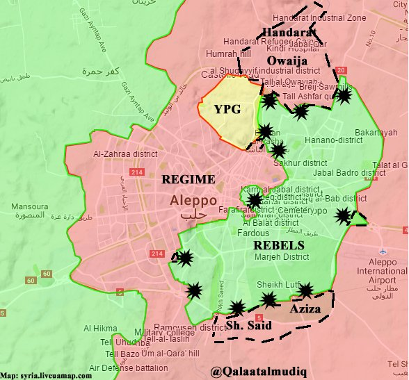 Overview of Military Situation in Aleppo City on October 27, 2016