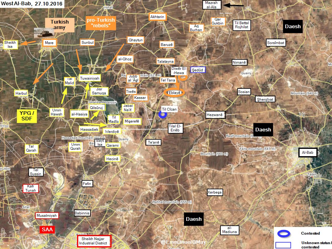 Turkish Forces Capture 2 More Villages from ISIS in Northern Aleppo, Clash with Kurdish YPG