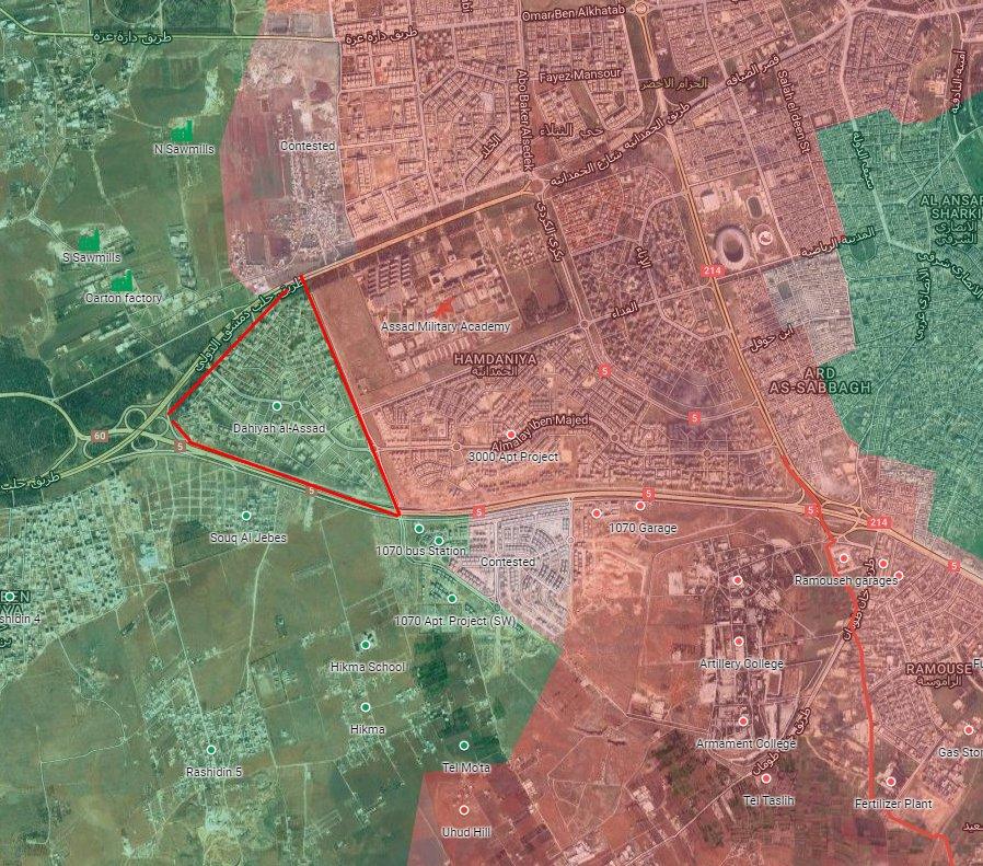 Syrian Army Retakes Al-Assad Neighborhood of Aleppo City from Al-Nusra (Al-Qaeda)