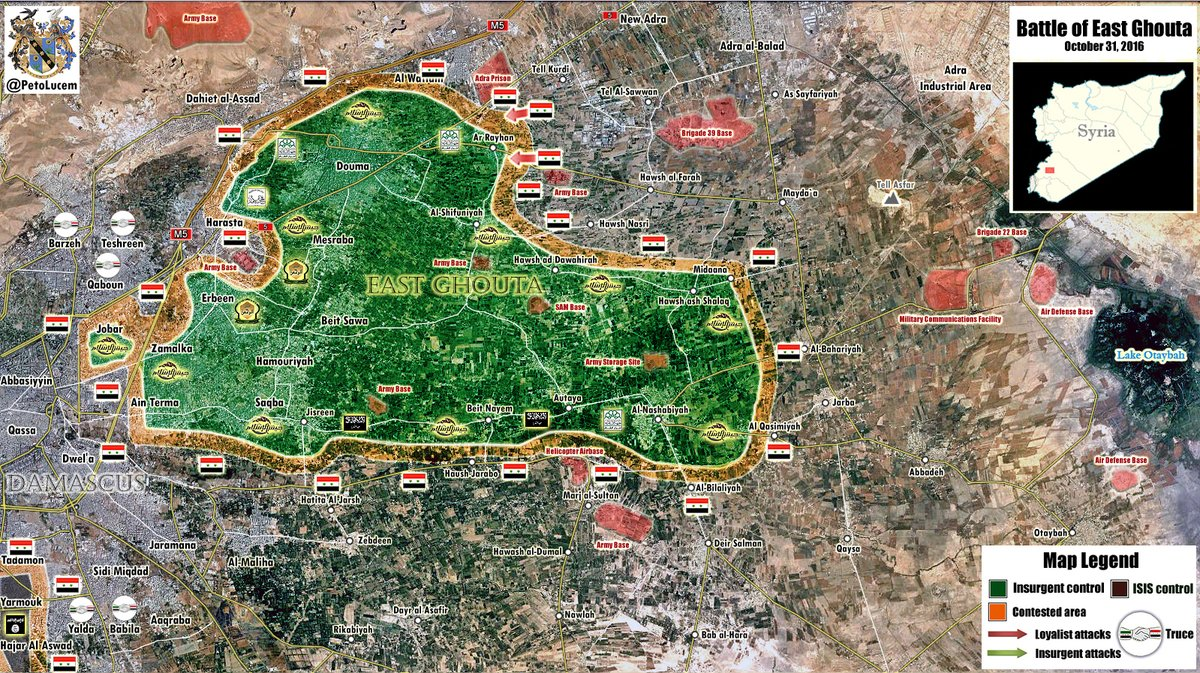 Pro-Militant Media Blame Syrian Military for Usage of Air Power in Eastern Ghouta