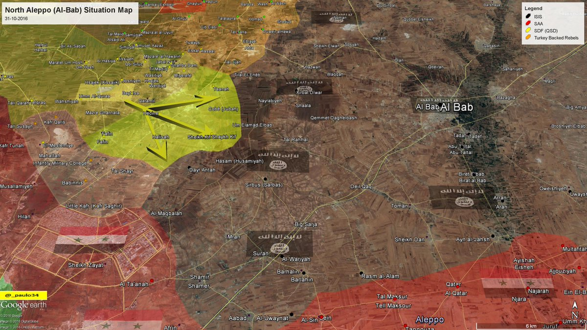 Syria Map Update: Race to Al-Bab, October 31, 2016
