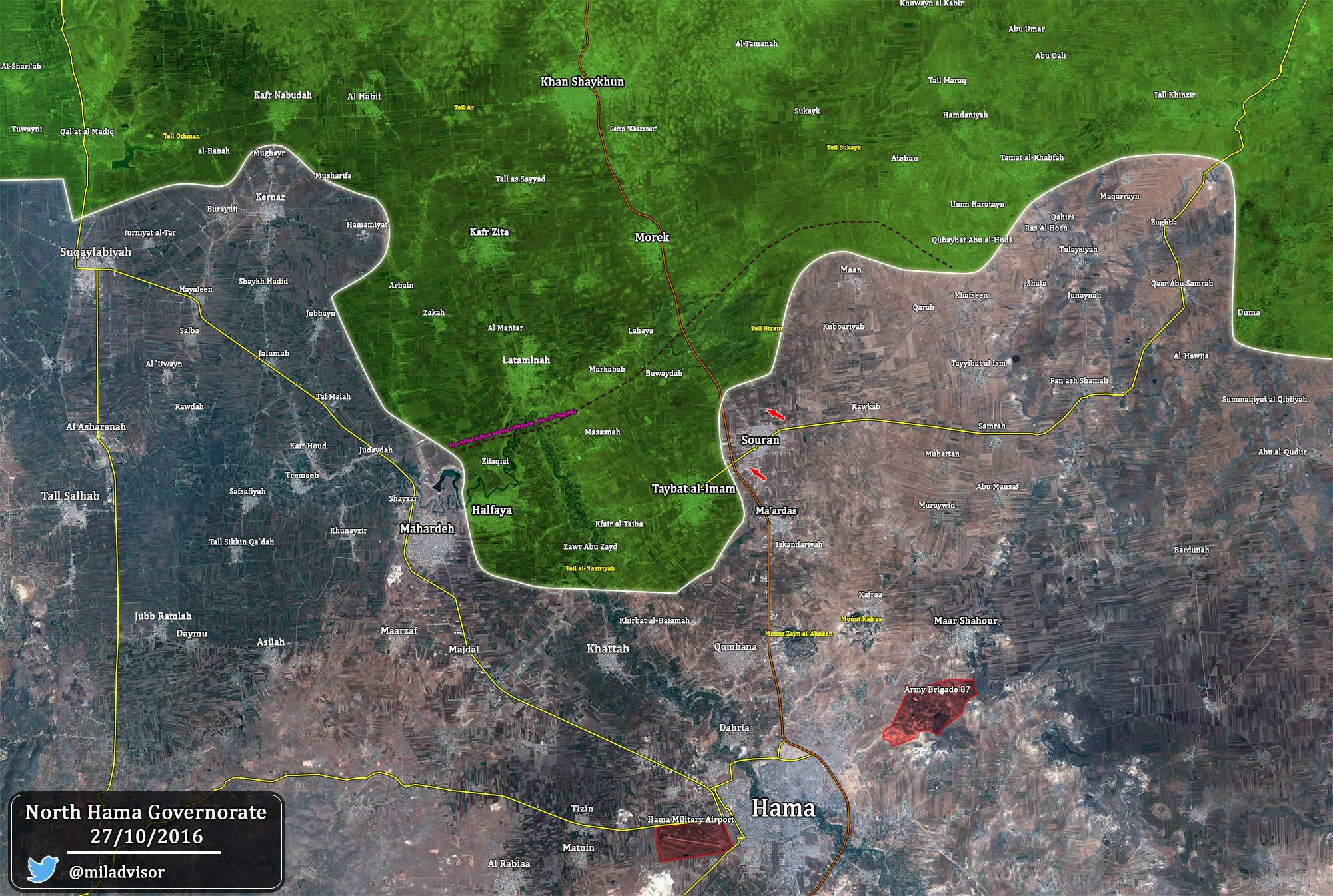Syria Map Update: Military Situation in Northern Hama after Liberation of Suran