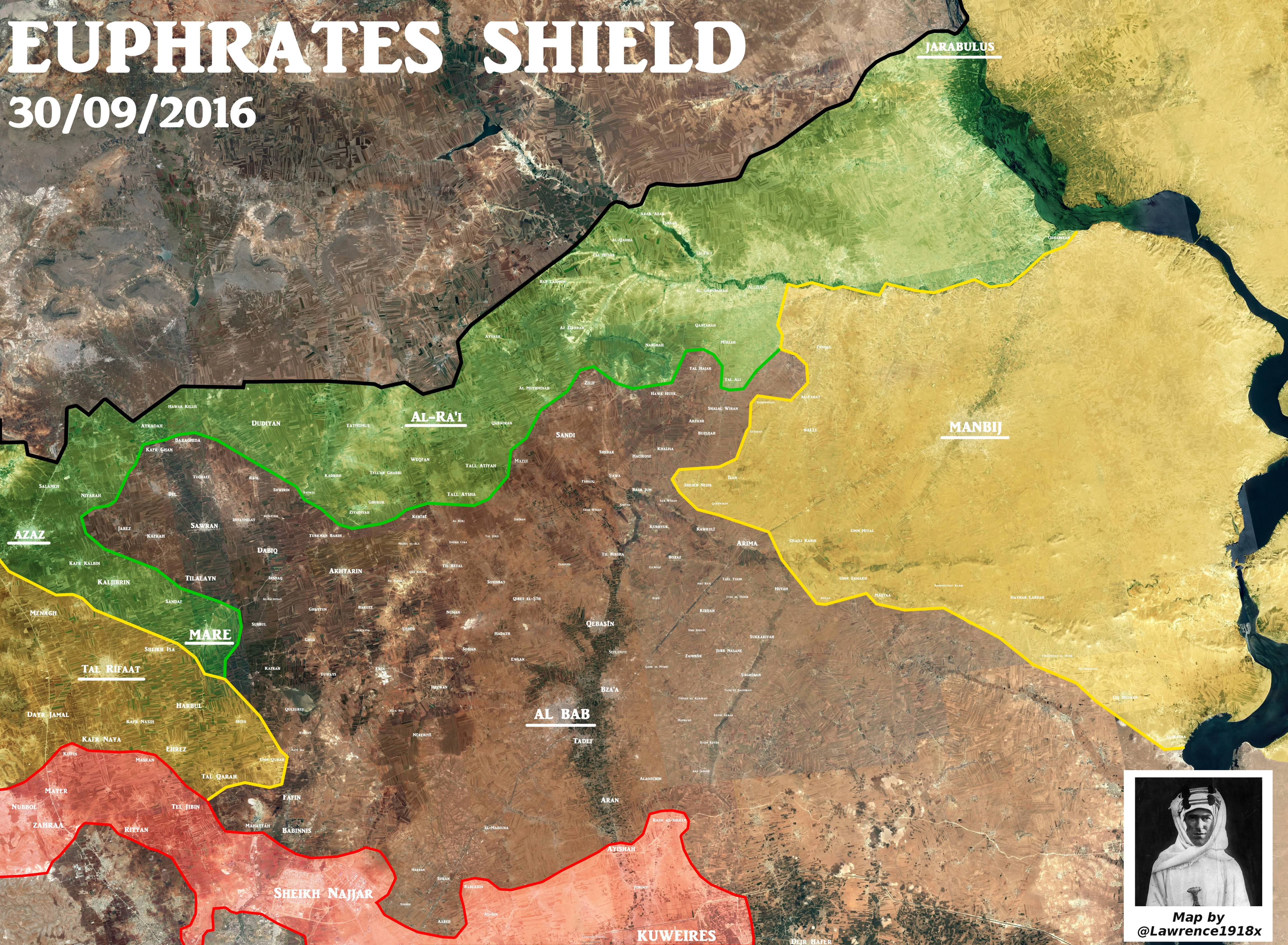 Military Situation in Northern Aleppo, Syria on September 30