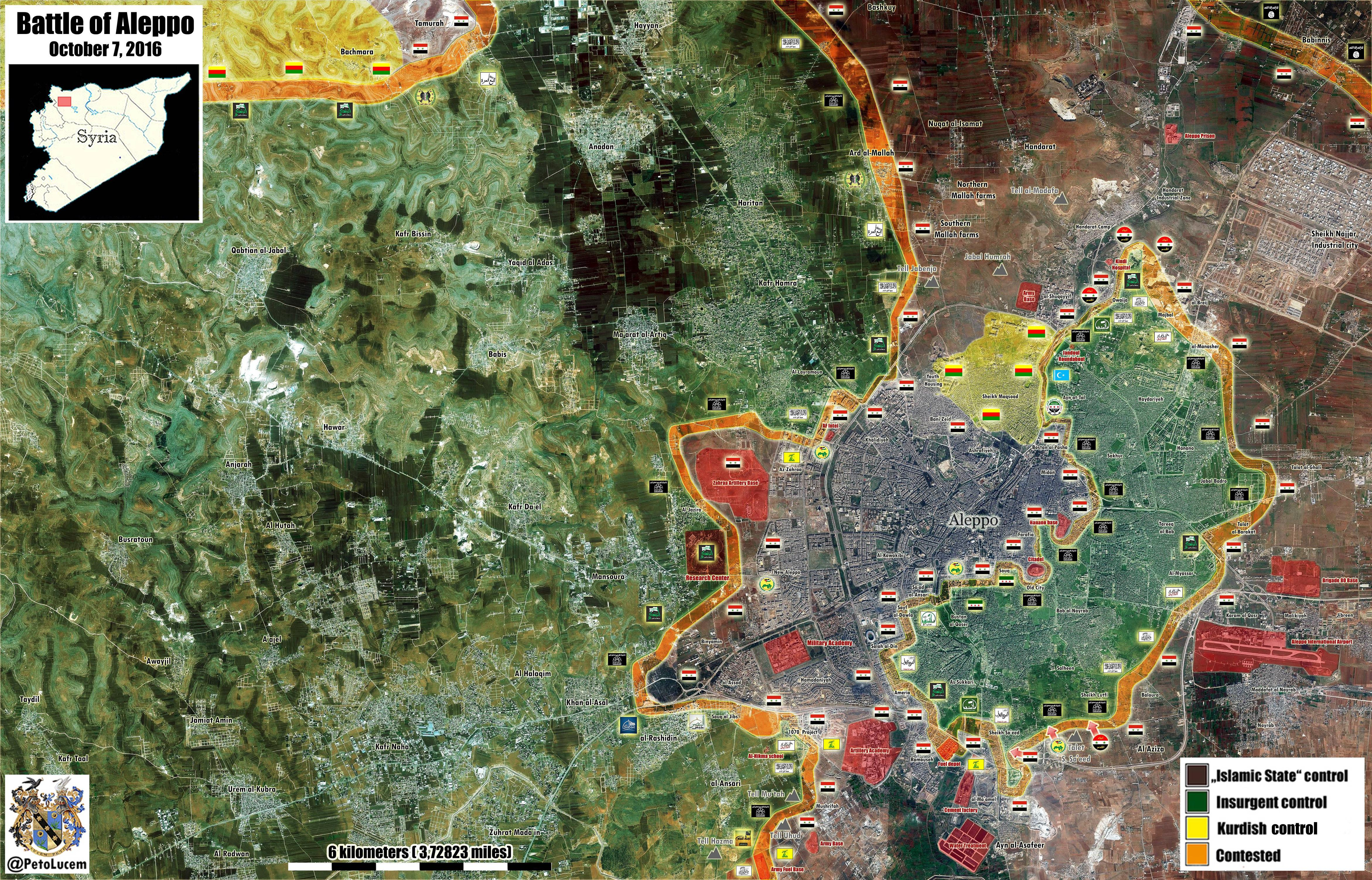 Map Update: Military Situation in Aleppo City on October 7