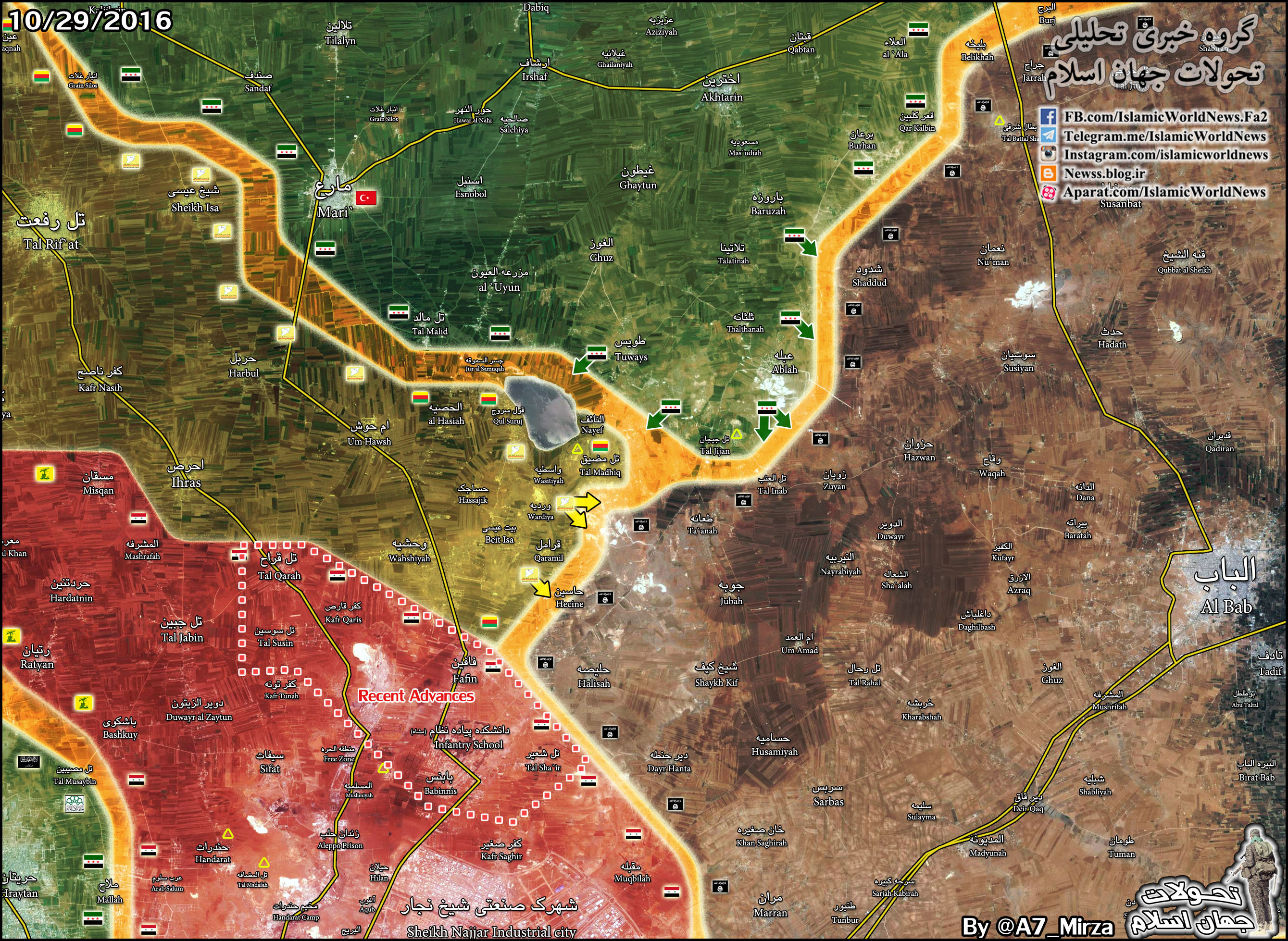 Kurdish YPG Prevents Possibility of FSA's Attack on Syrian Army in Notheastern Aleppo