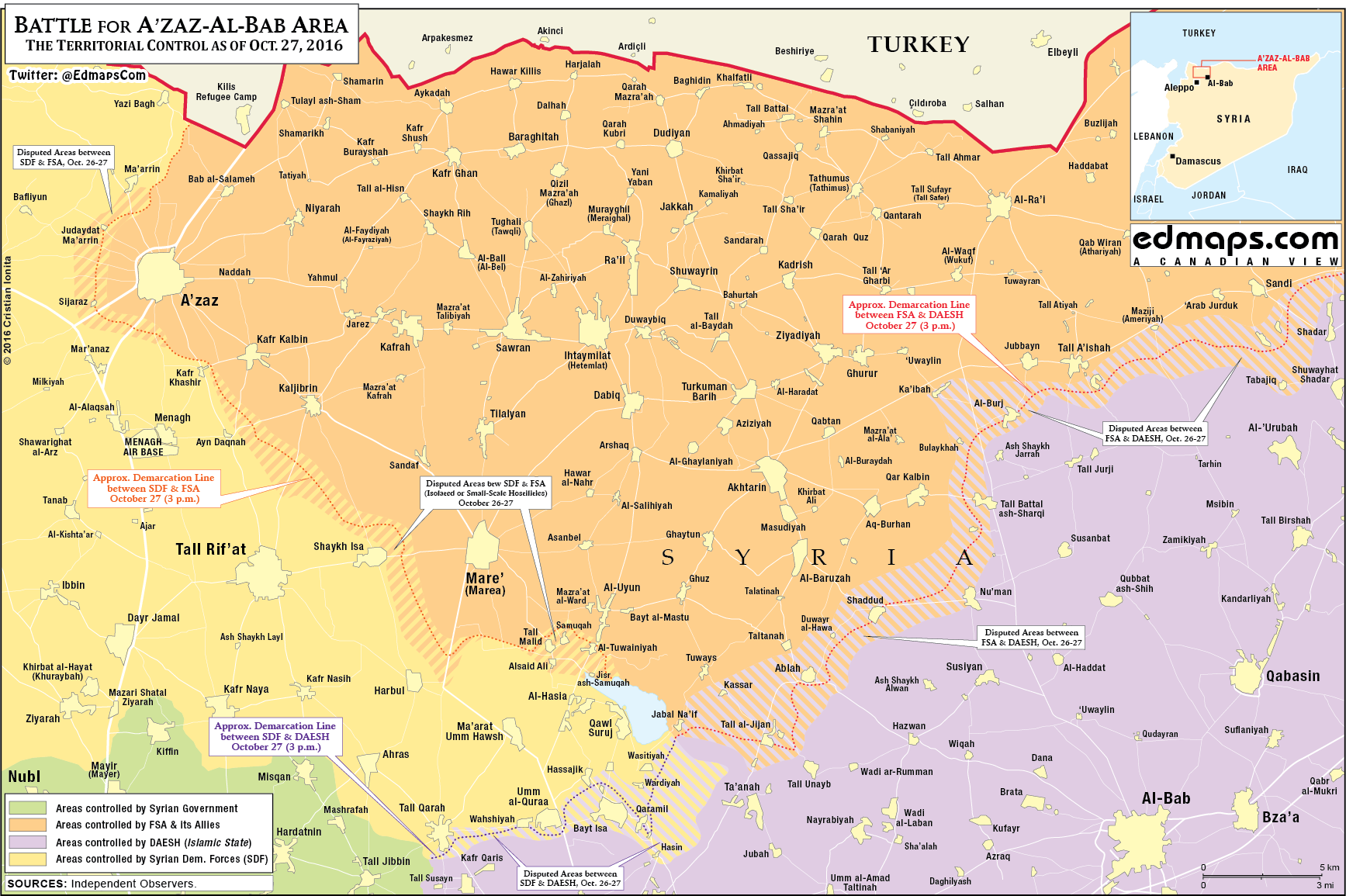 Kurdish YPG Claims to Kill over 30 Turkish-backed Militants in Tall Malid