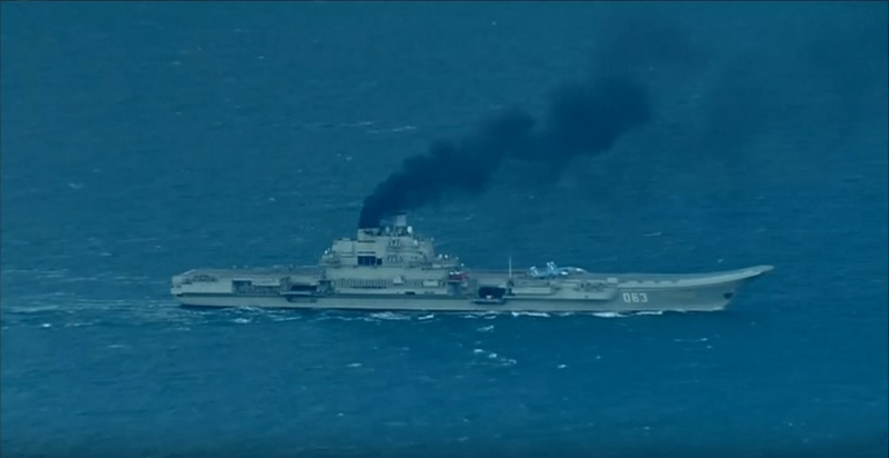 Admiral Kuznetsov & Carrier Battle Group of Russian Navy Entered English Channel (Photo & Video)