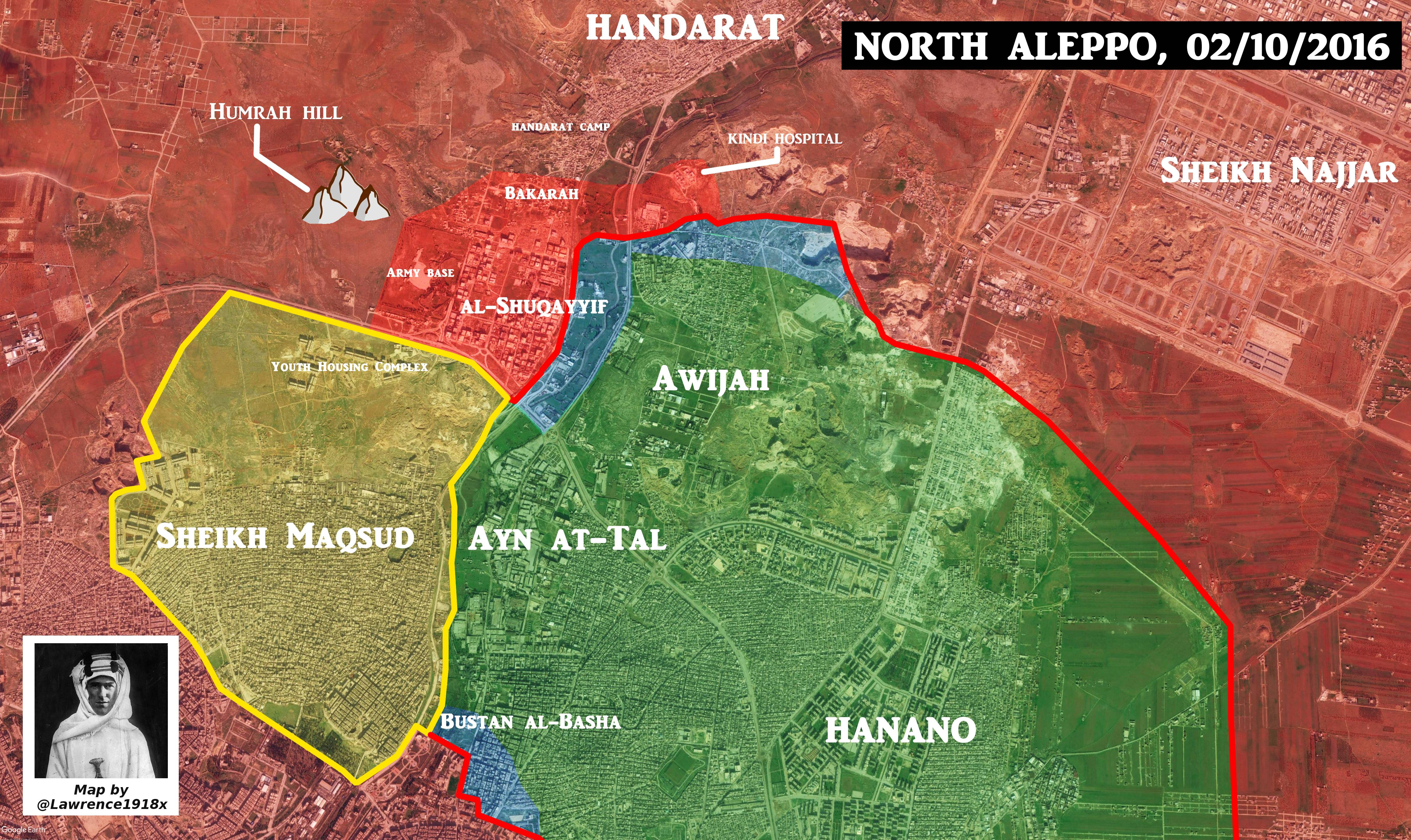 Overview of Military Situation in Aleppo City on October 3, 2016