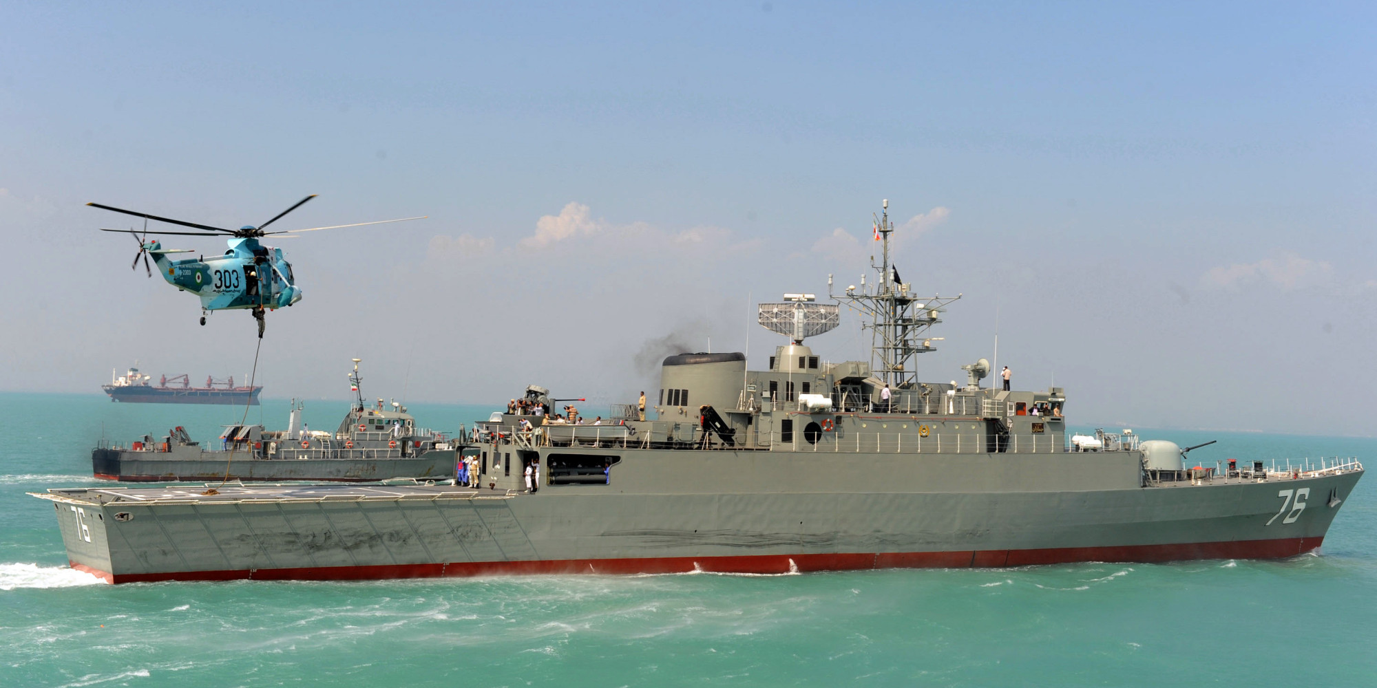 Iran Deploys Warships Off Yemen Coast after US Bombs Houthi Targets