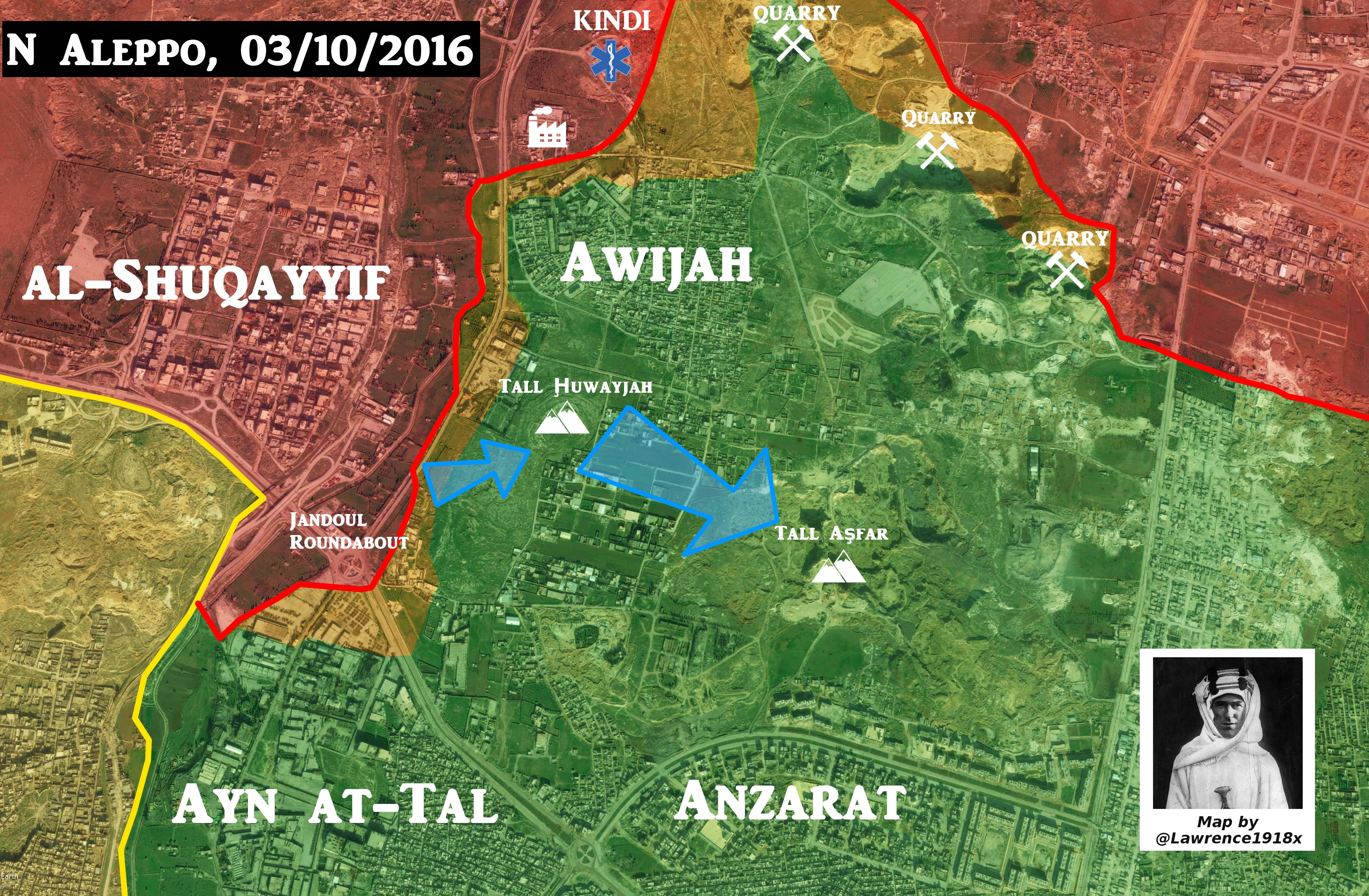 Map Update: Govt Fores' Options to Advance in Northern Aleppo
