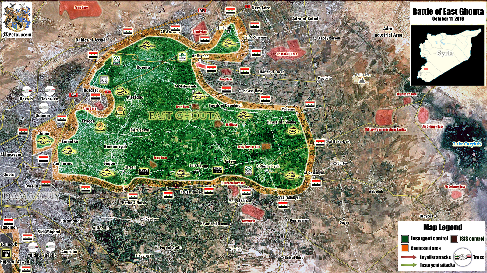 Map Update: Military Situation in Eastern Ghouta, Syria