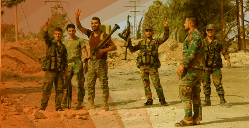 NDF Holds Counter-Raids Against Terrorist Forces in Northern Homs