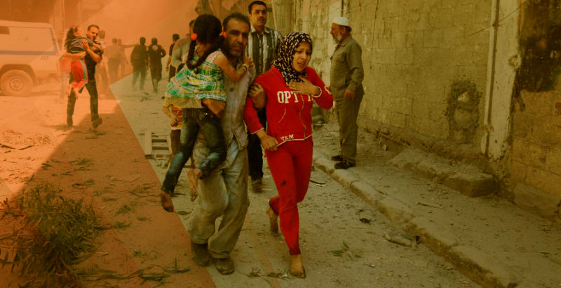 Unarmed Terrorists & Wounded People Leave Eastern Districts of Aleppo