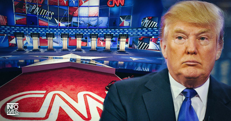 CNN Sas Tump Endangering Reporters' Livers for Not Denouncing'CNN Sucks' Chant