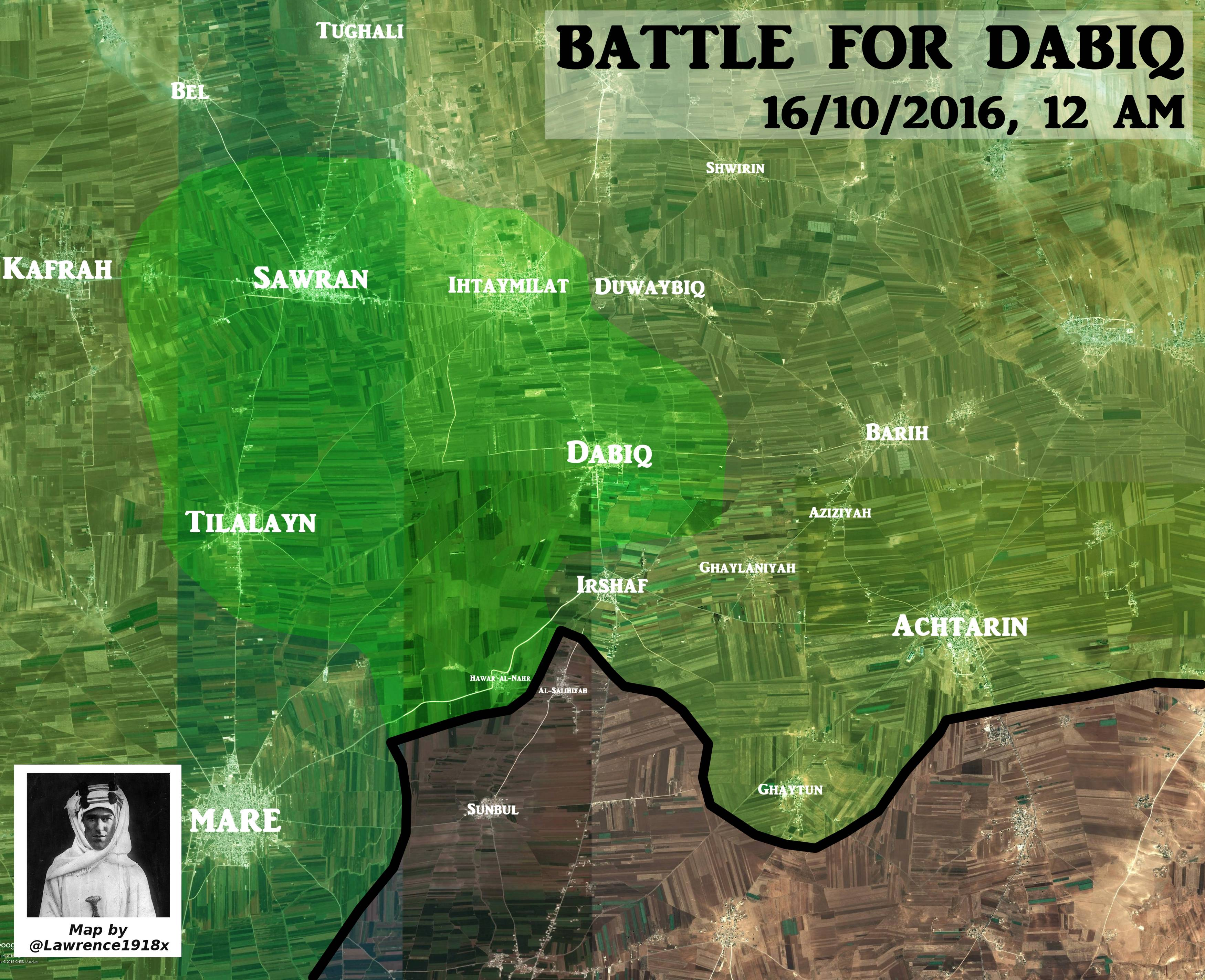 ISIS Withdraws from Area of Azaz in Northern Aleppo. Turkish-backed Militants Take Control of Dabiq and Sawran