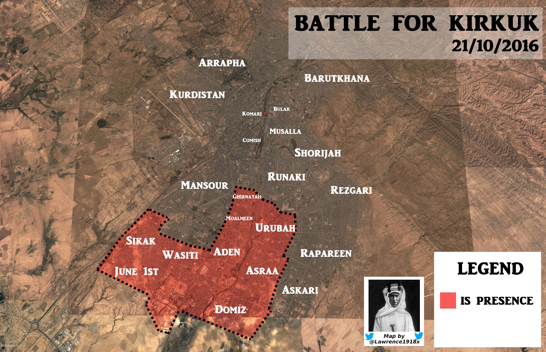 Iraqi Map Update: ISIS Offensive in Kirkuk