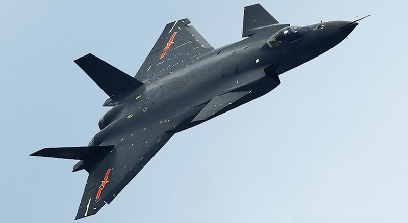 Newest Chinese J-20 5th-Generation Fighter Jet Makes Its First Demonstration Flight (Video)