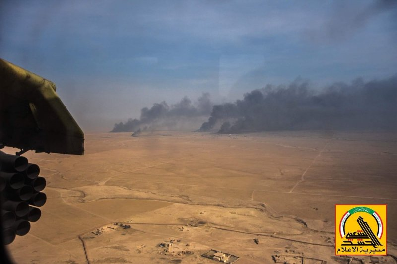 Iraqi Forces' Mi-35 Helicopters Pound ISIS near Mosul - Photo Report