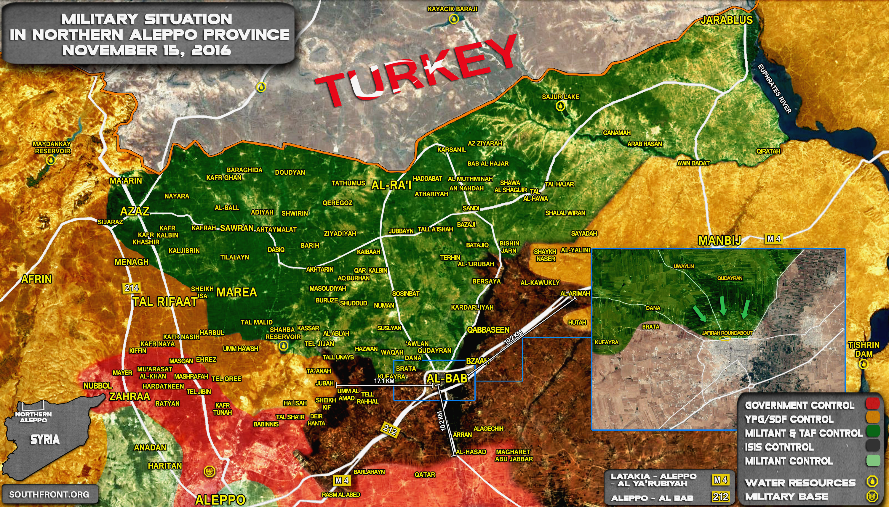 Turkey-led Forces Entered Town of Al-Bab in Syrian Aleppo Province