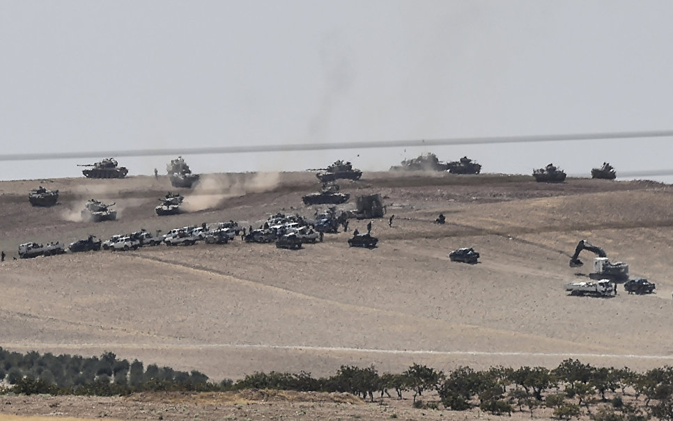 Fig. 1 Turkey troops are in northern Syria