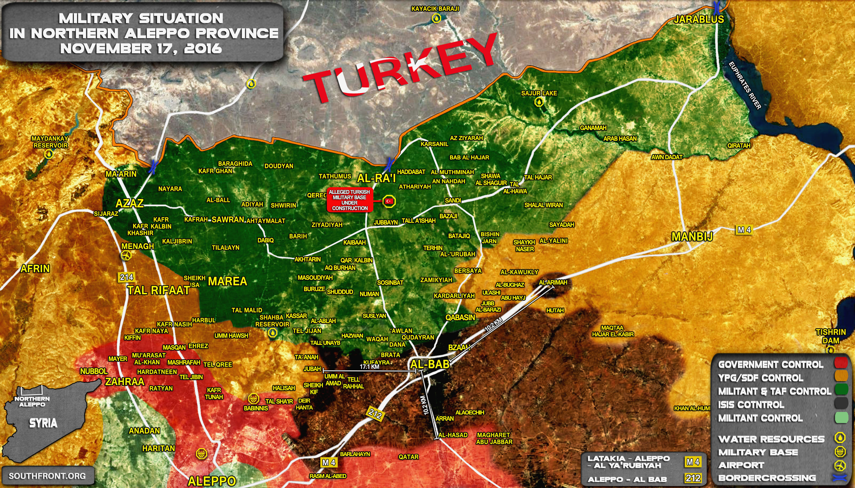 Turkey-led Forces and Kurdish YPG Move Closer to Confrontation over al-Bab