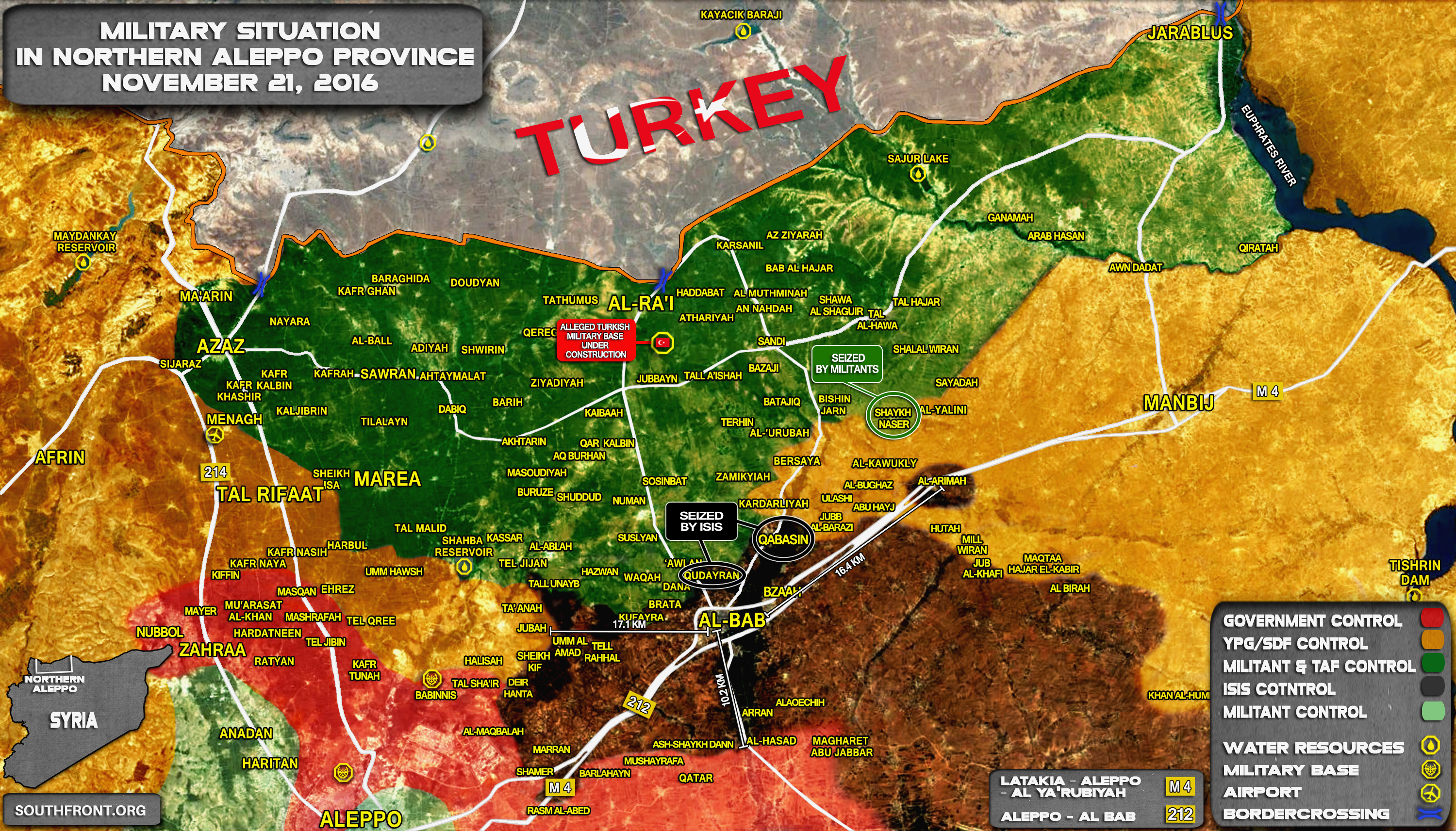 ISIS, Pro-Turkey militants and Kurdish YPG Fight Each Others in Northern Syria