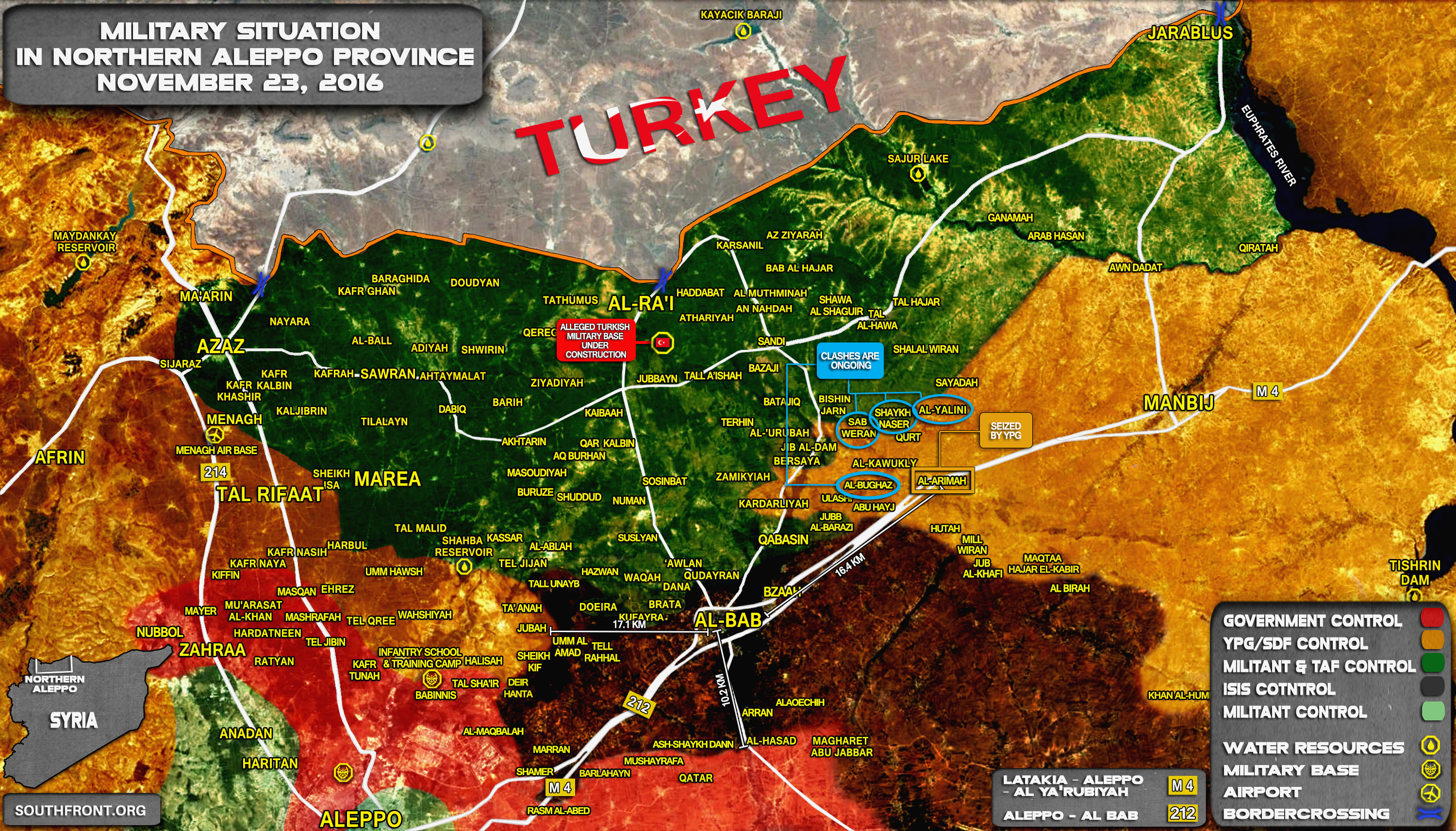 Intense Fighting between Turkey-led Forces and Kurdish YPG in Northern Aleppo