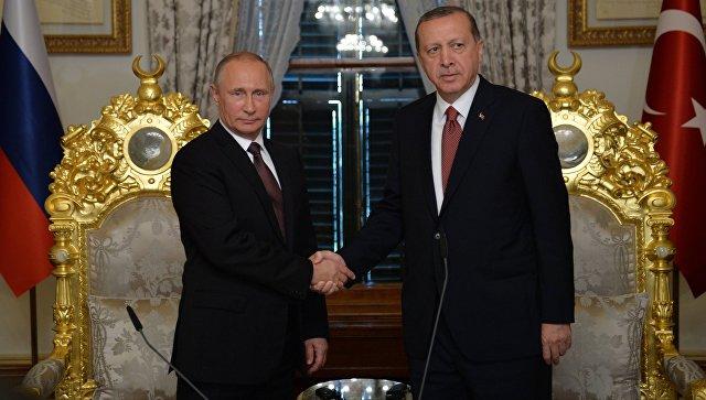Fig. 2 Vladimir Putin and Recep Tayyip Erdoğan upon the signing of the Turkish Stream Agreement