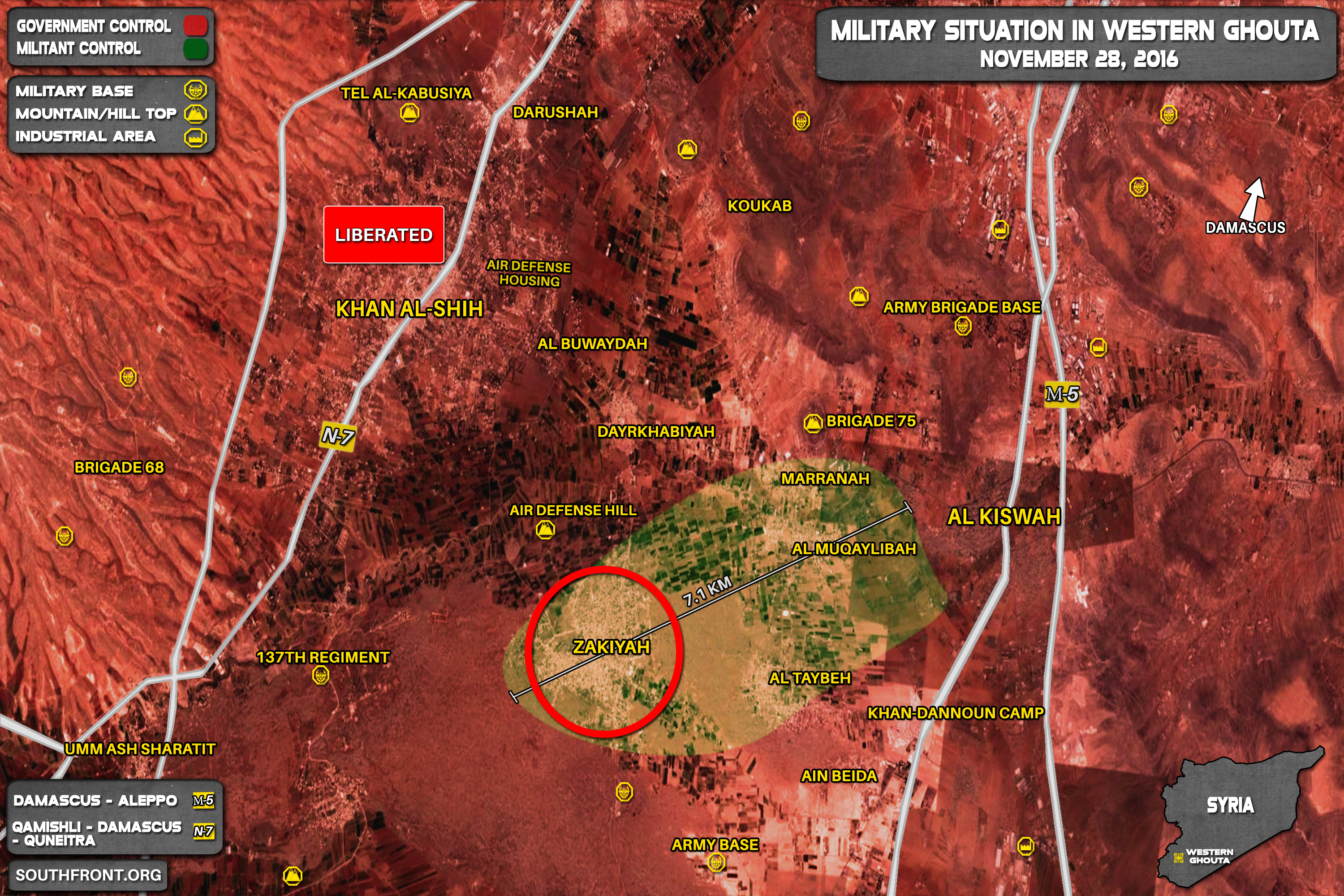 Militants Evacuate from Khan al-Shih, Hand Over Town and Military Equipment to Syrian Army. Zakiyah - Next