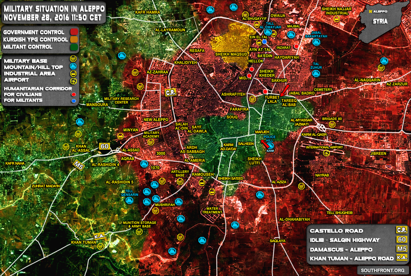 Syria Map Update Government Forces Are in Full Control of Northern