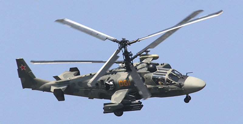 Russia Selling Ka-52 Alligator Helicopters to Egypt