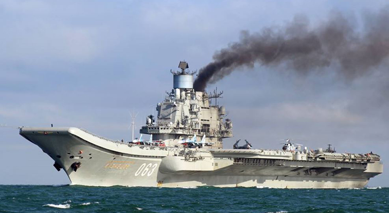 'Old and Rusty' Admiral Kuznetsov Aircraft Carrier in Comparison to Ohers (Infographics)