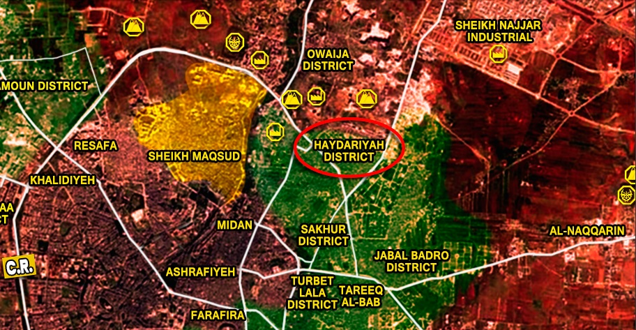 Syrian Army & Paletsinian Militias Advancing in Northern Aleppo