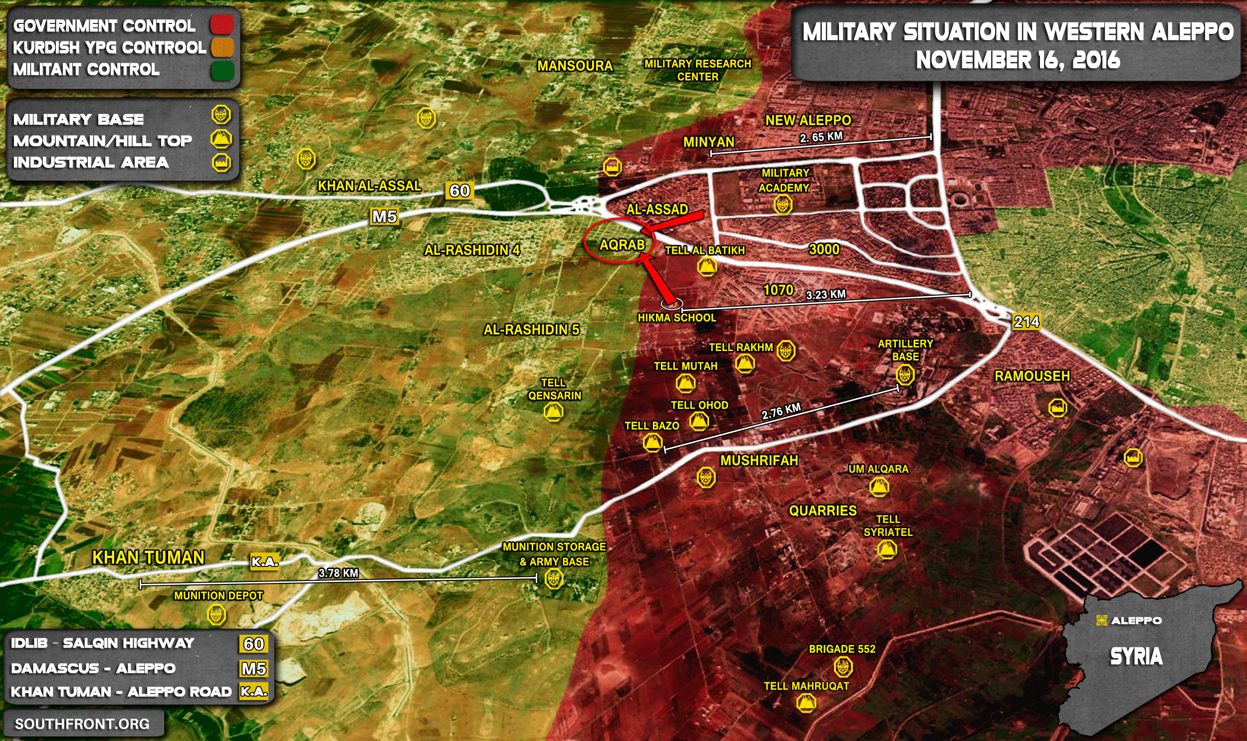 Syrian Army & Allies Liberate Aqrab Area in Western Aleppo