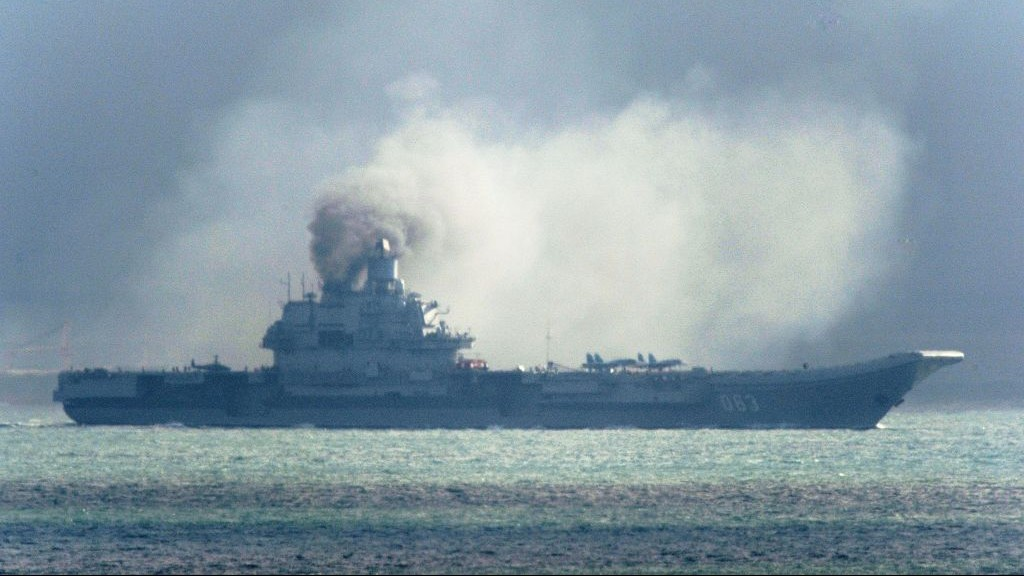 Russian Military Confirms Its Battle Group Off Syrian Coast, Aircraft Taking Off From Admiral Kuznetsov's Deck to View Conflict Zone