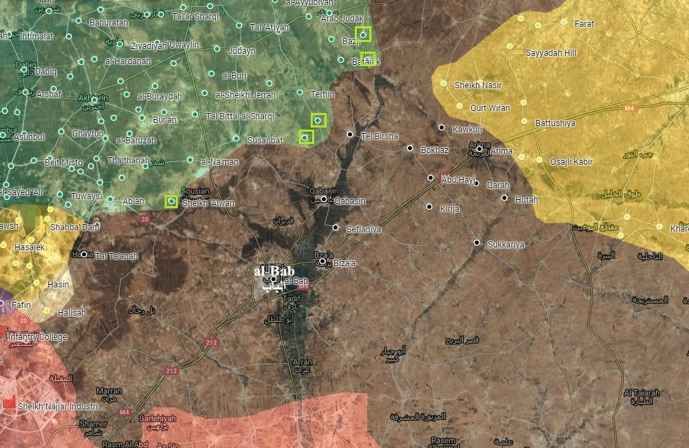 Turkey-led Forces Seize 5 Villages, Deploy Closer to Key Town of Al-Bab in Aleppo Province