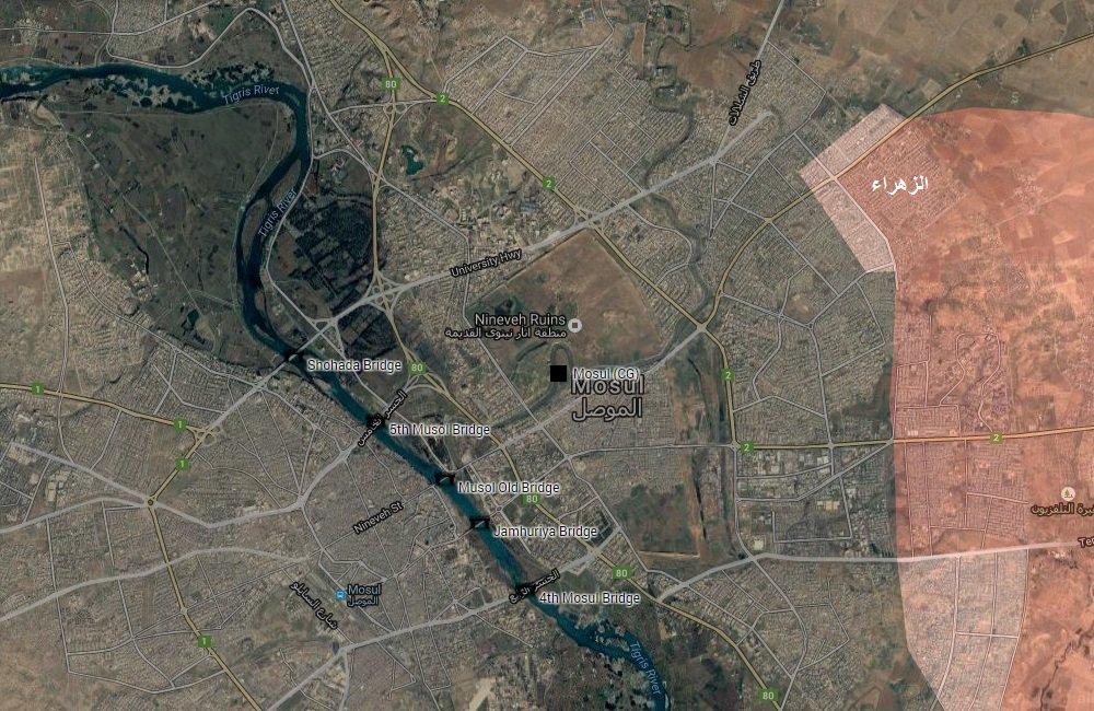 Iraqi Forces Liberate al-Zahra' District of Mosul