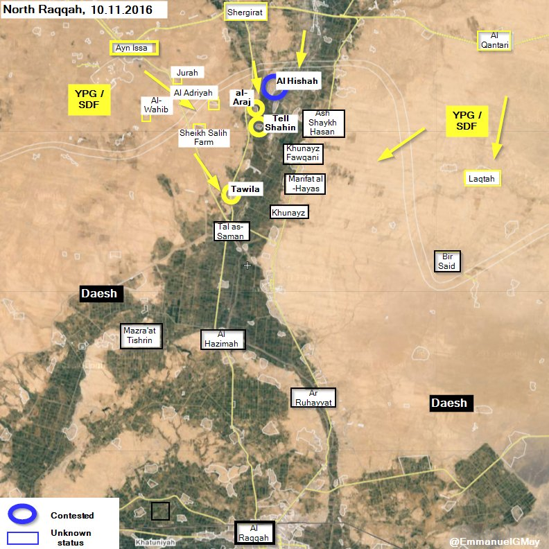 Kurdish Forces Liberate 3 more Villages from ISIS in Raqqa Province