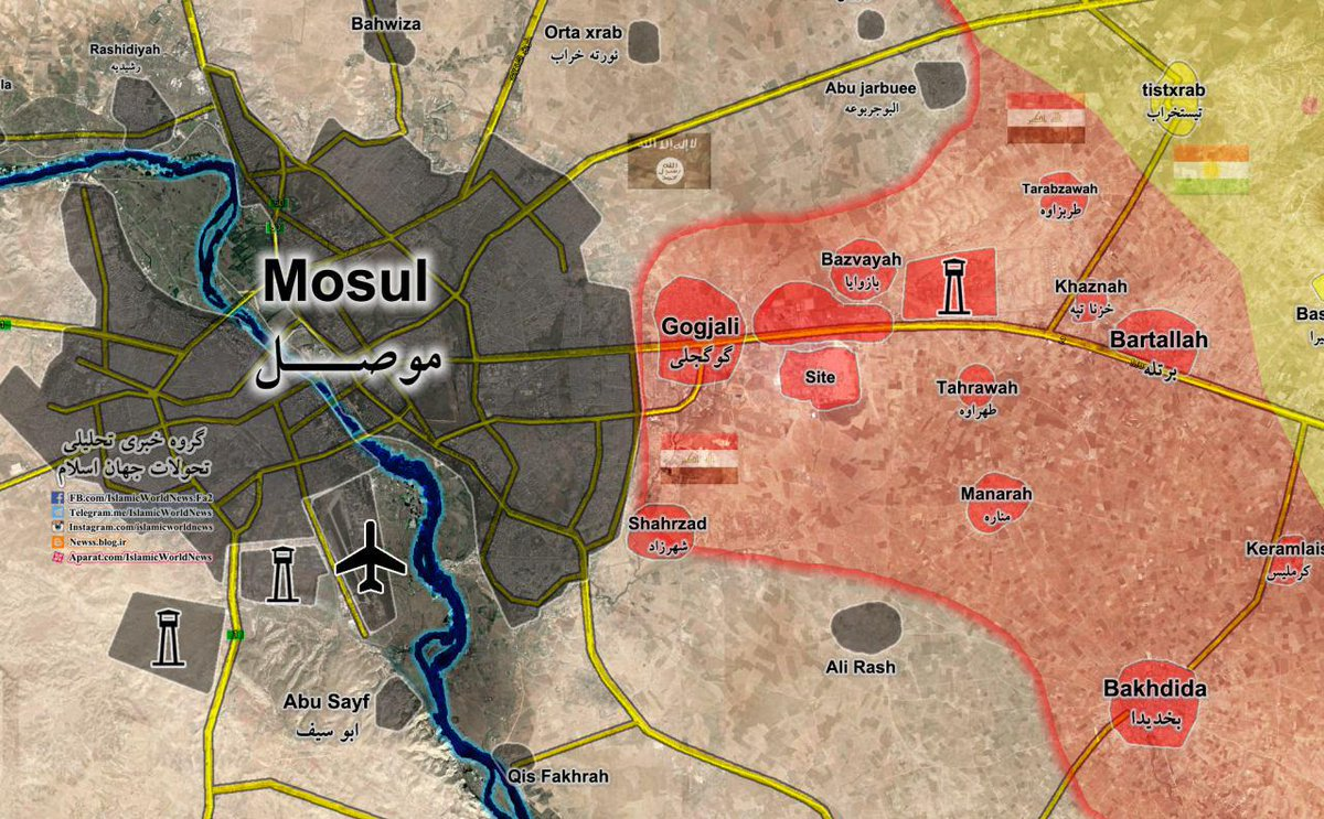 Map Update AntiISIS Forces Readying to WideScale Storm of Mosul