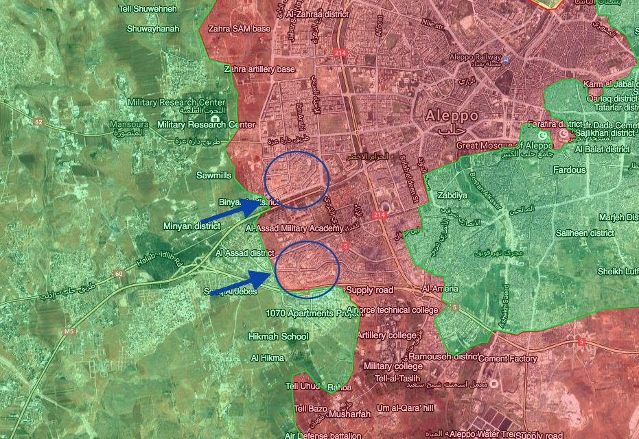 Overview of Military Situation in Aleppo City on November 3, 2016: Al-Nusra & Co Launch '2nd Phase' of Their Offensive