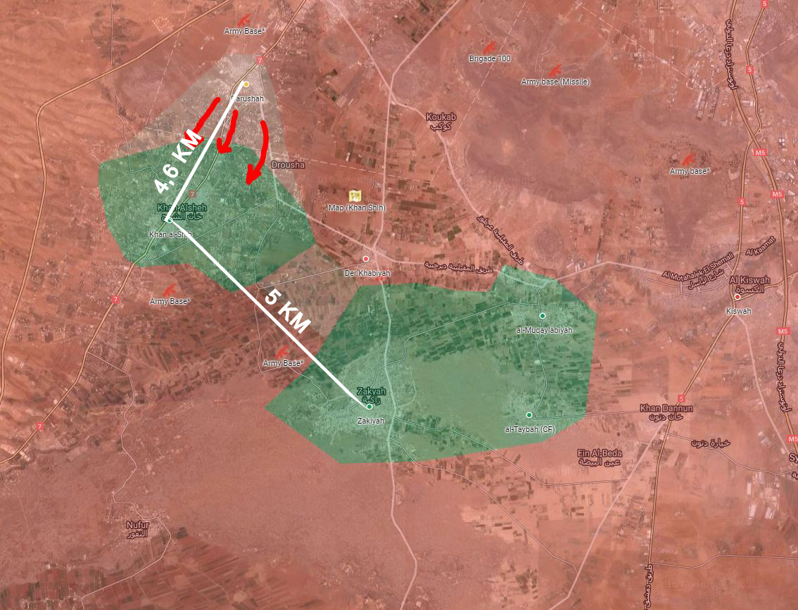 Syrian Army Takes Control of Farms Northeast of Khan Al-Sheih in Western Ghouta