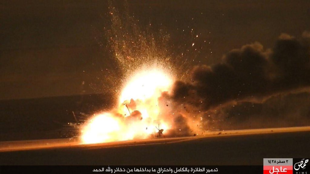 Footage: ISIS Blew Up Russian Mi-35 Helicopter near Palmyra. Crew Survived