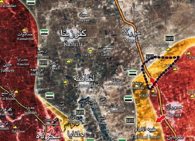Syrian Army Gains More Areaas along Aleppo-Hama Highway